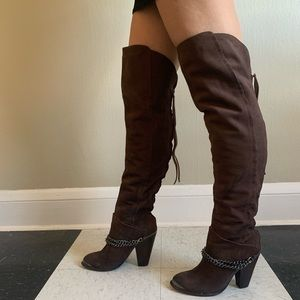 Gorgeous Sam Edelman Thigh High Chain Boots, 7